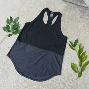 Champion Black & Gray Colorblock Athletic Tank